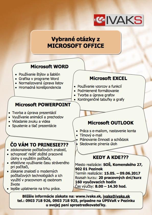 Vybrané otázky z MS OFFICE_160 Pezinok